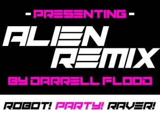 Alien Remix Display Font