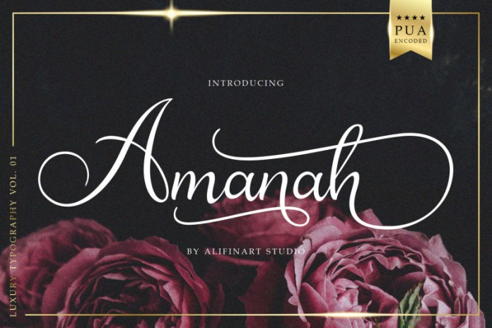 Amanah Calligraphy Font