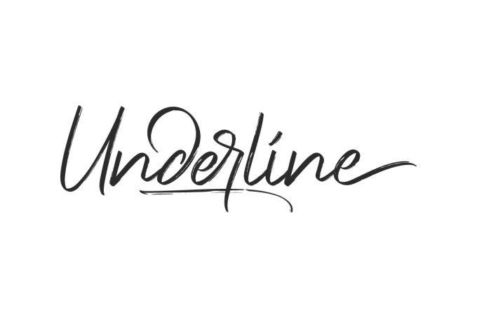 Underlines Brush Font