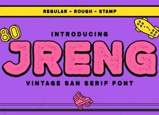 Jreng Display Font