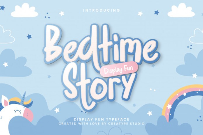 Bedtime Story Display Font