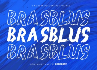 Brasblus Display Font