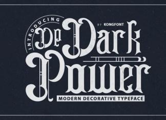 Dark Power Display Font