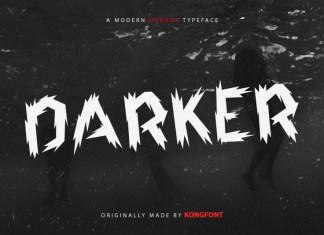 Darker Display Font