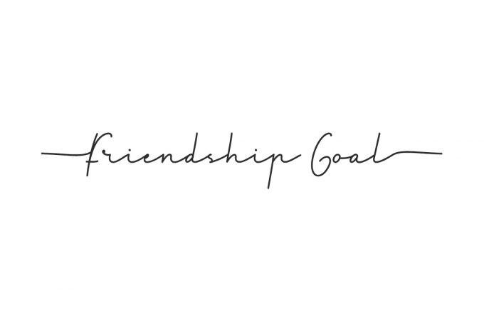 Friendship Goal Handwritten Font