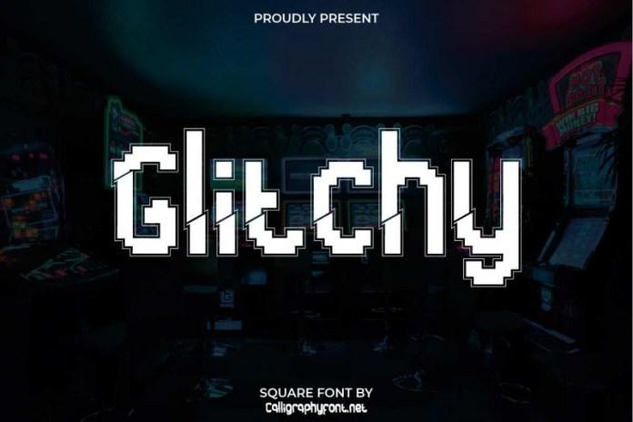 Glitchy Display Font