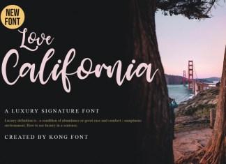 Love California Script Font