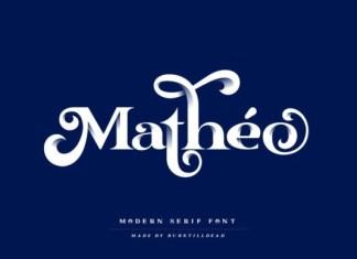 Matheo Serif Font