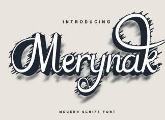 Merynak Script Font