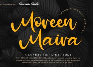 Moreen Maira Script Font