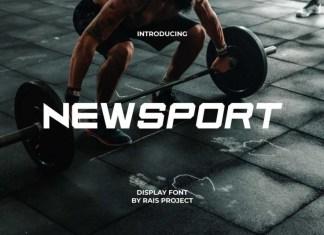 Newsport Display Font