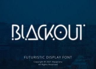 Blackout Display Font