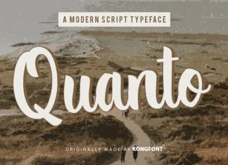 Quanto Script Font