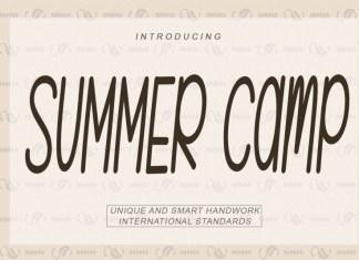SUMMER Camp Display Font