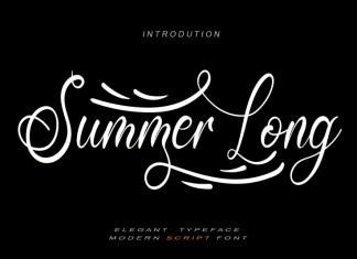 Summer Long Script Font