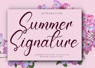 Summer Signature Script Font