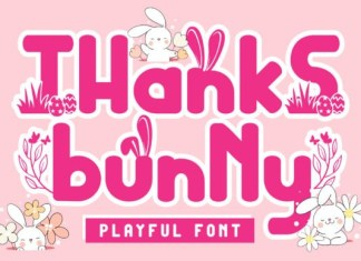 Thanks Bunny Display Font