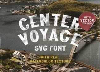 Center Voyage Display Font