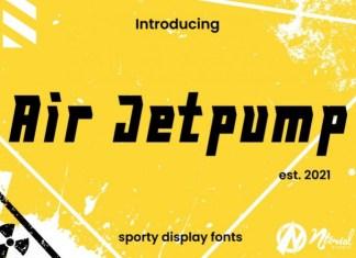 Air Jetpump Display Font