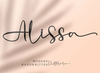 Alissa Script Font