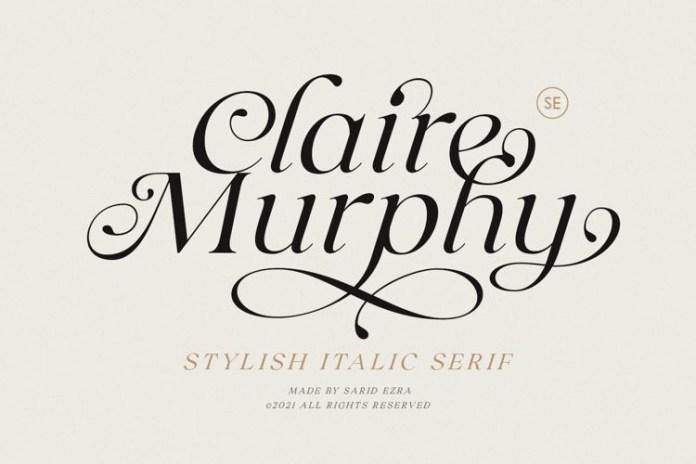 Claire Murphy Serif Font