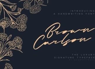 Brown Carlson Handwritten Font