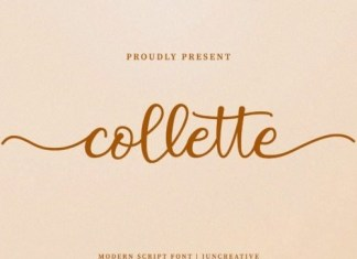 Collette Calligraphy Font