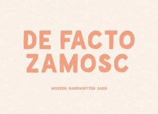 De Facto Zamosc Display Font