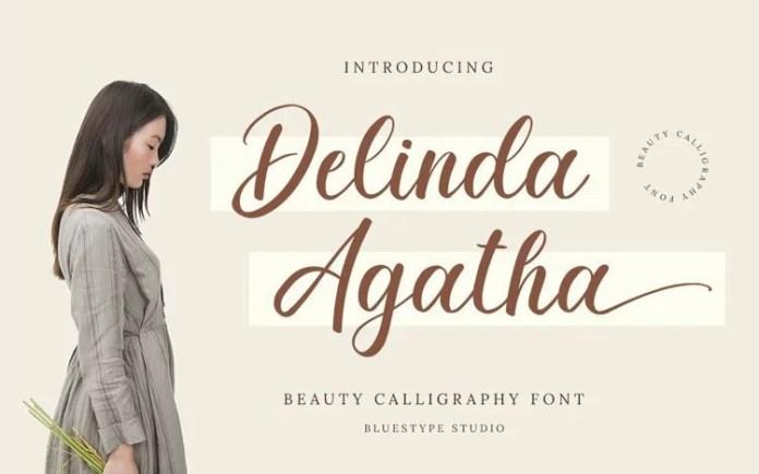 Delinda Agatha Script Font