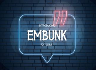 EMBUNK Display Font