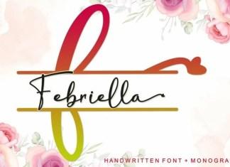 Febriella Script Font