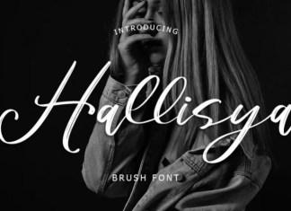 Hallisya Brush Font