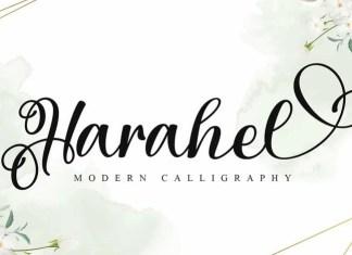 Harahel Calligraphy Font