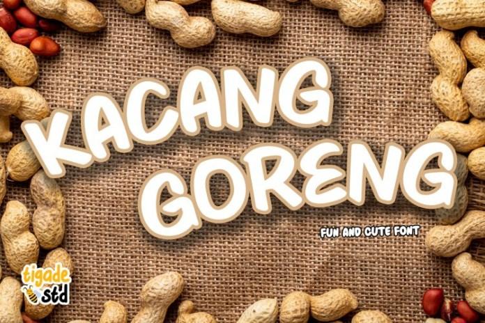 Kacang Goreng Display Font