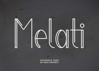 Melati Display Font