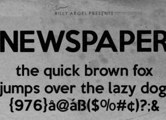 NEWSPAPER Display Font