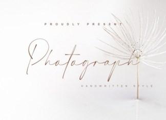 Photograph Handwritten Font