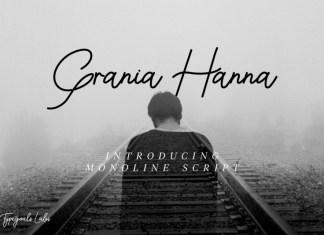 Grania Hanna Handwritten Font