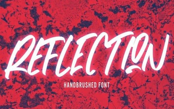 Reflection Brush Font