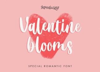 Valentine Blooms Script Font