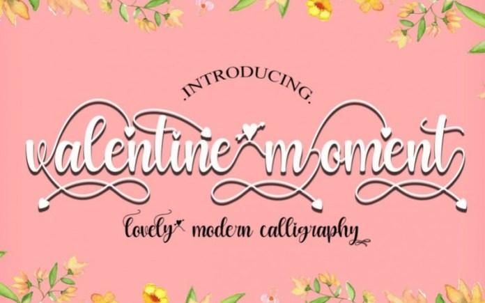 Valentine Moment Calligraphy Font