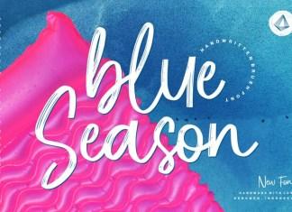Blue Season Brush Font