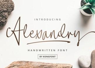Alexandry Handwritten Font