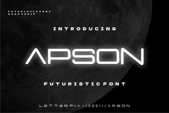Apson Display Font