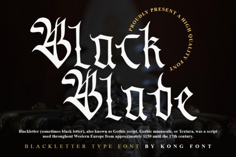 Black Blade Blackletter Font