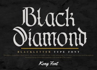Black Diamond Blackletter Font