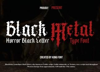 Black Metal Blackletter Font