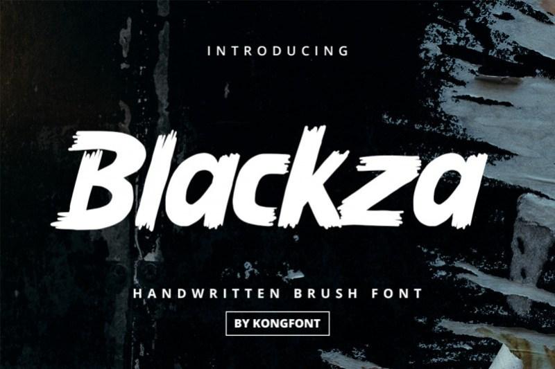Blackza Display Font