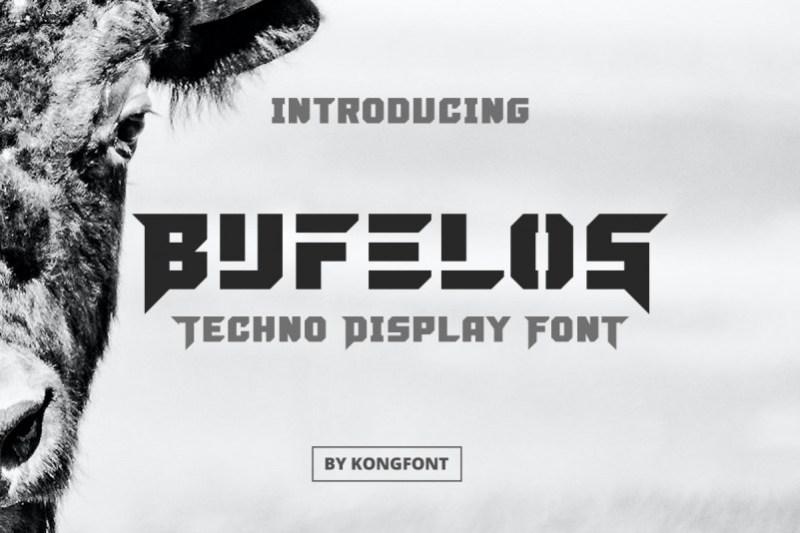 Bufelos Display Font