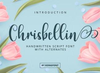 Chrisbellin Calligraphy Font
